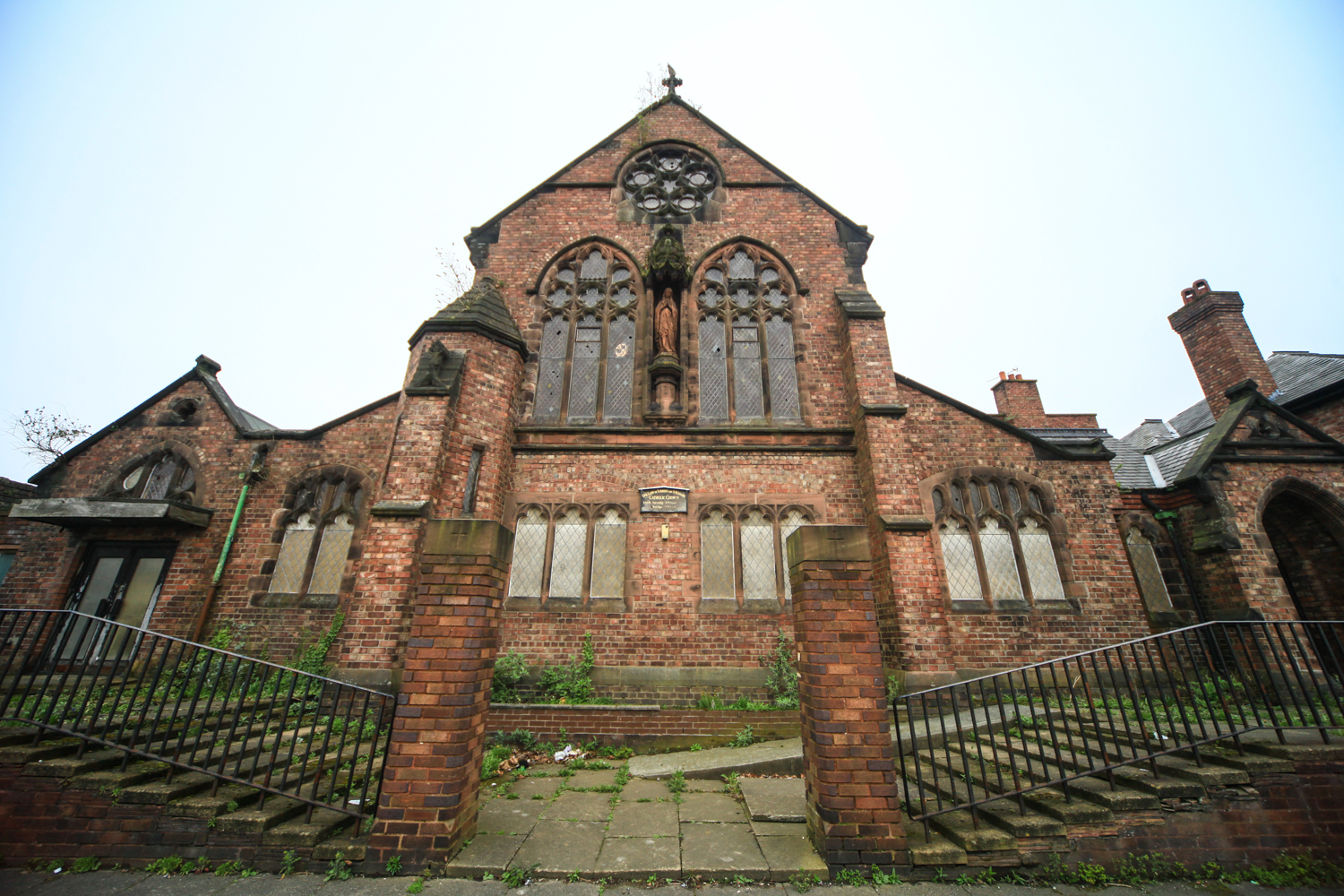 St Bernard's RC Church on Kingsley Road - work has started to transform it into affordable housing