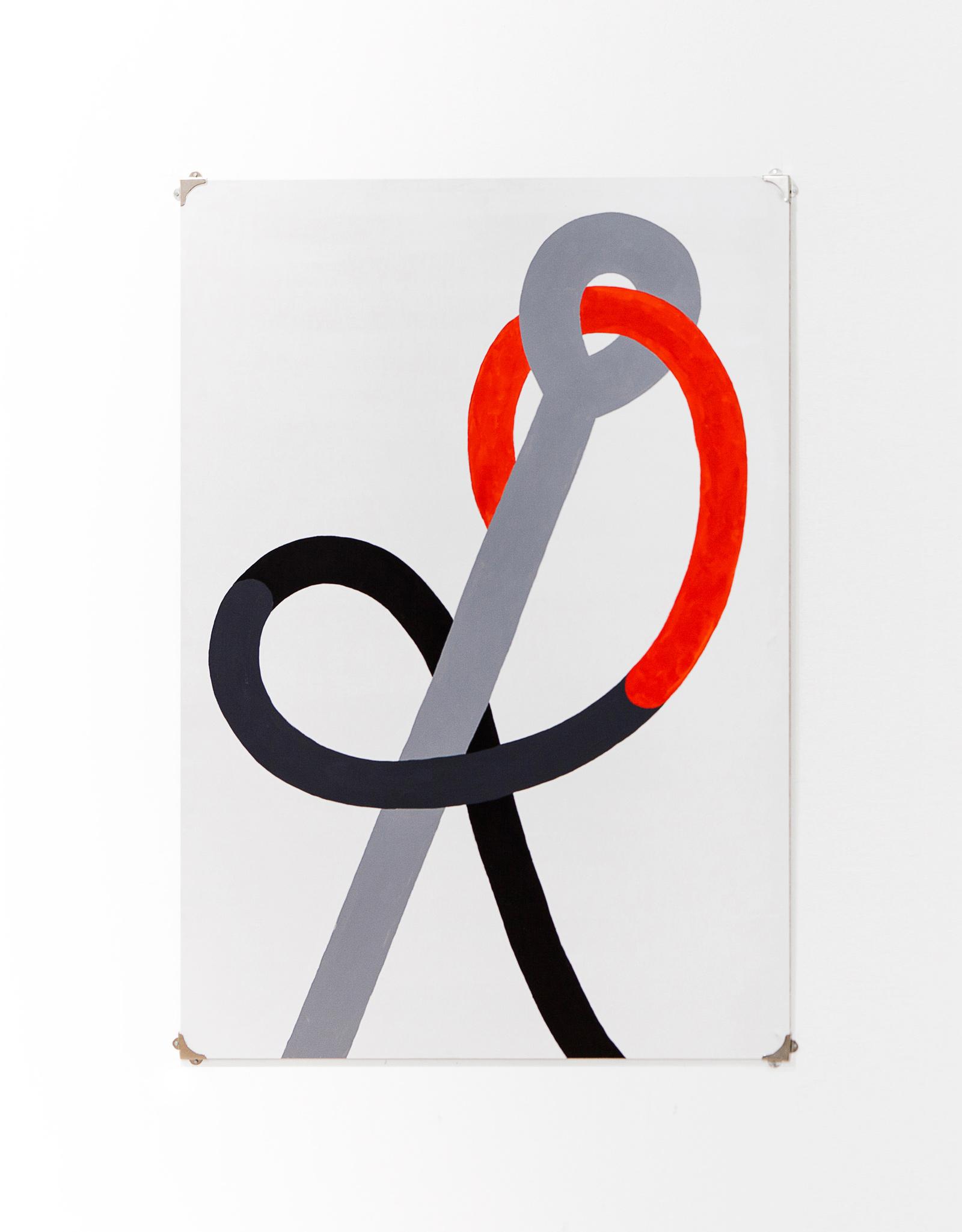 Ago, filo e nodo    Acrylic on canvas, 70x100cm 2014