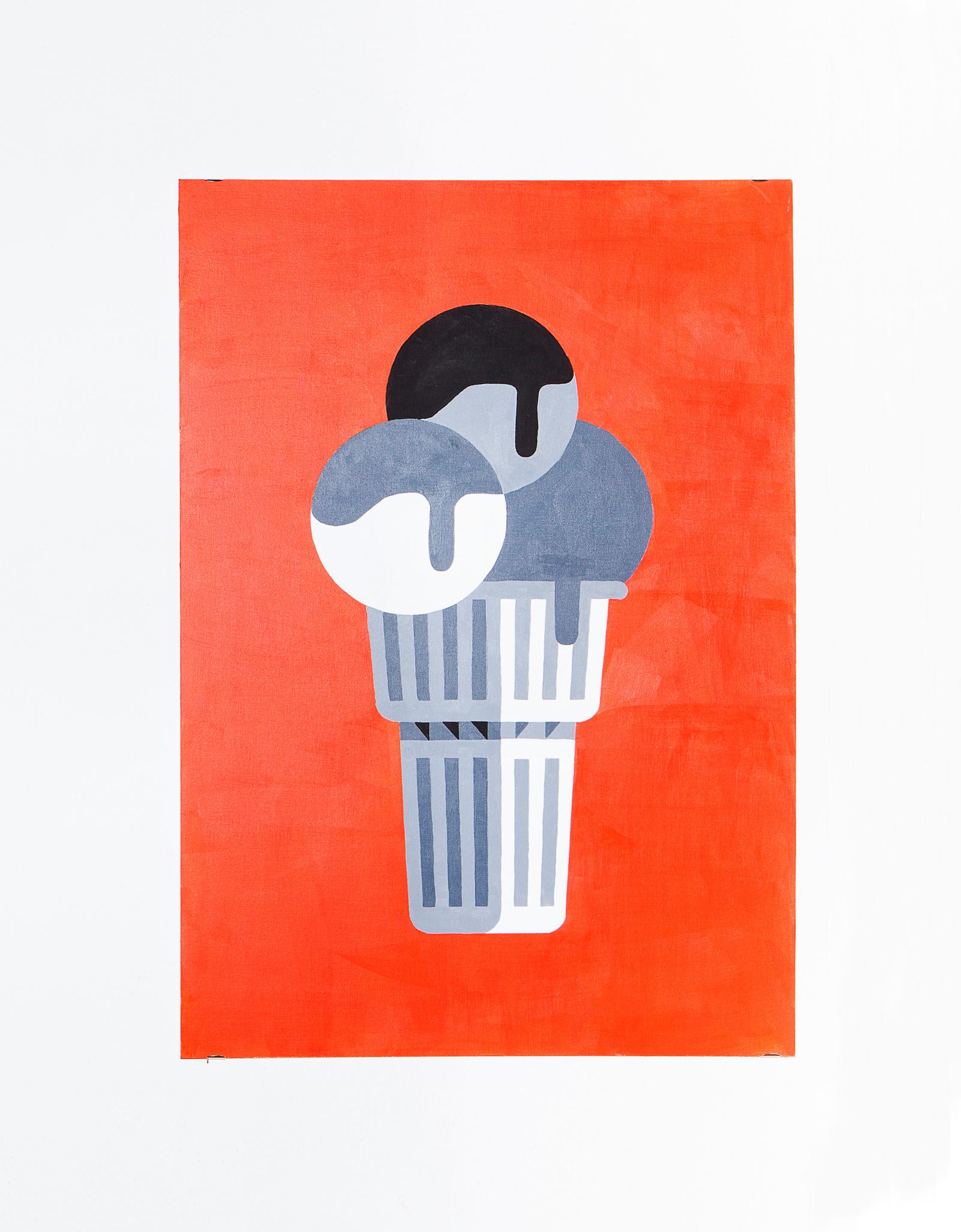 Gusto velasca    Acrylic on canvas, 70x100cm 2014