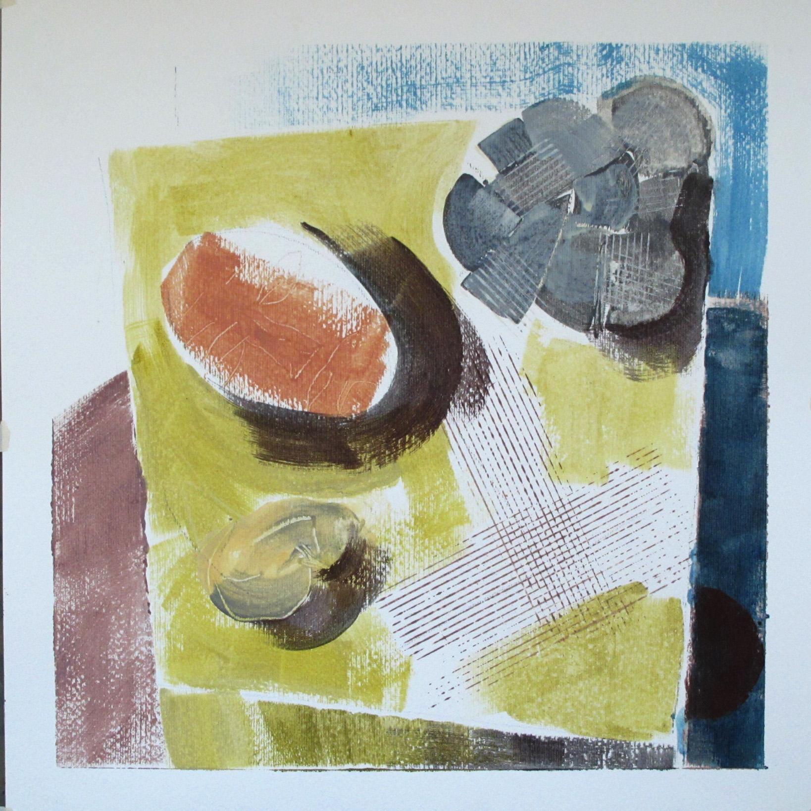 """Serien """"Ting Jeg Ikke har""""  2012. 40 x 40, Gummitempera på papir"""