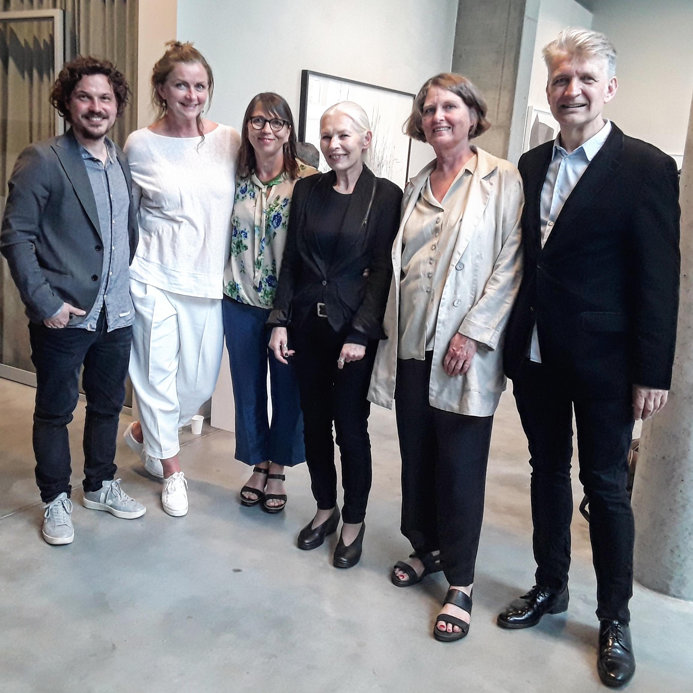 Frederik K.B., Astrid Hilde Semmingsen, Tone Myskja, Danuta Haremska, Line With og Johs. Bøe på åpningen