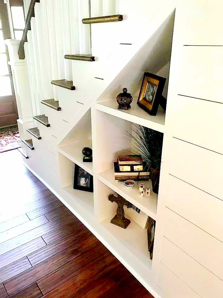 LUXE Homes Pro 020 shelves under stairs.jpg