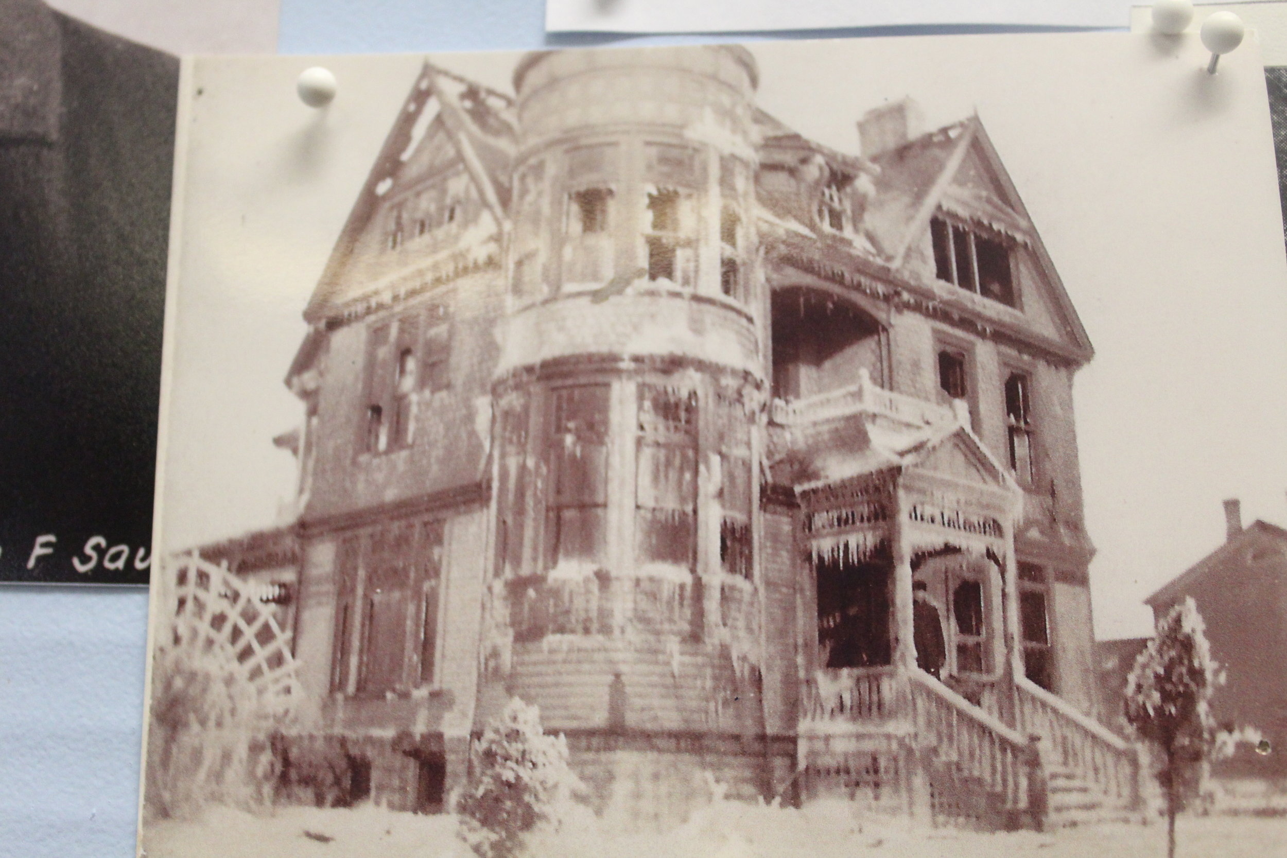 Heather House After  the fire about 1890.JPG