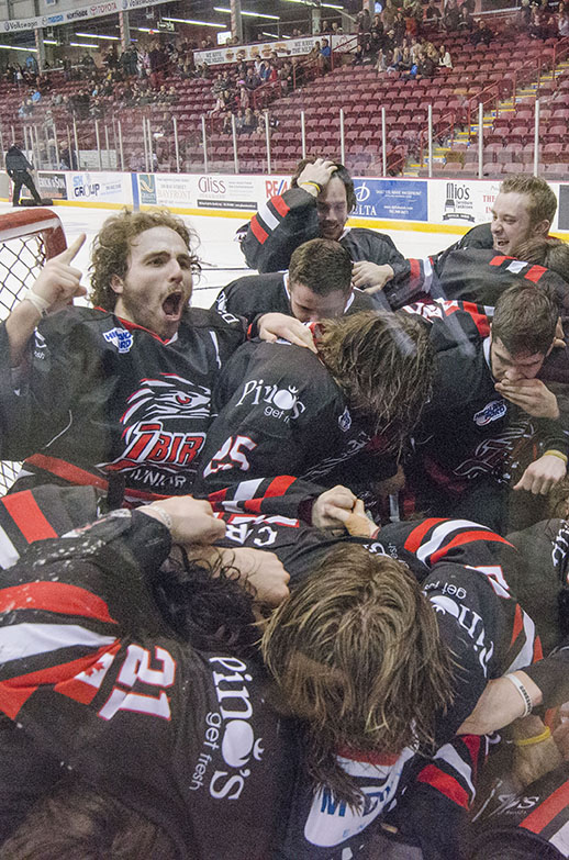 CHAMPIONS! Soo Thunderbirds of the Northern Ontario Jr. Hockey League carried on their championship tradition in 2015-2016.