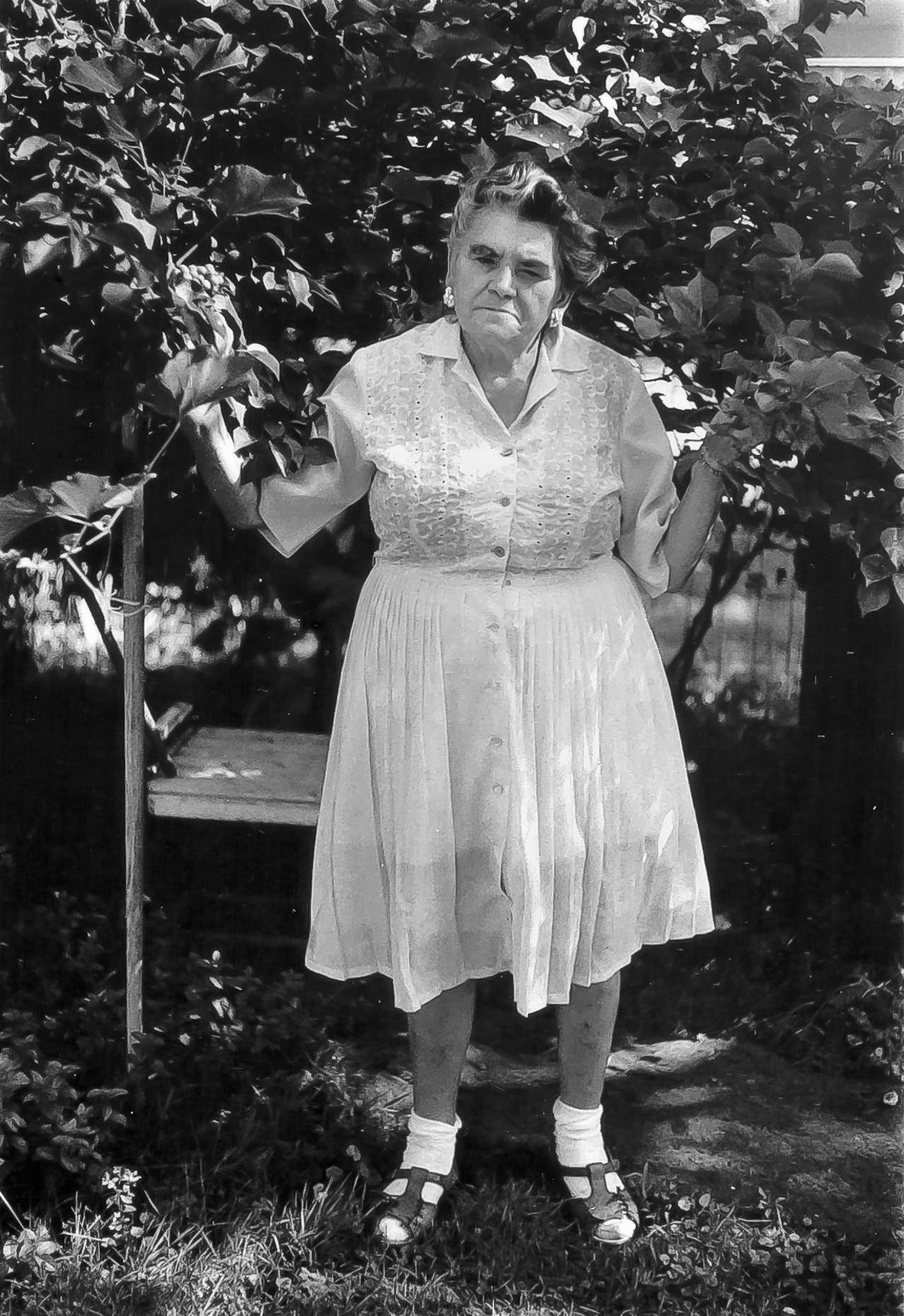 Mrs DeLuca, Pearl Street, Rochester, New York 1969
