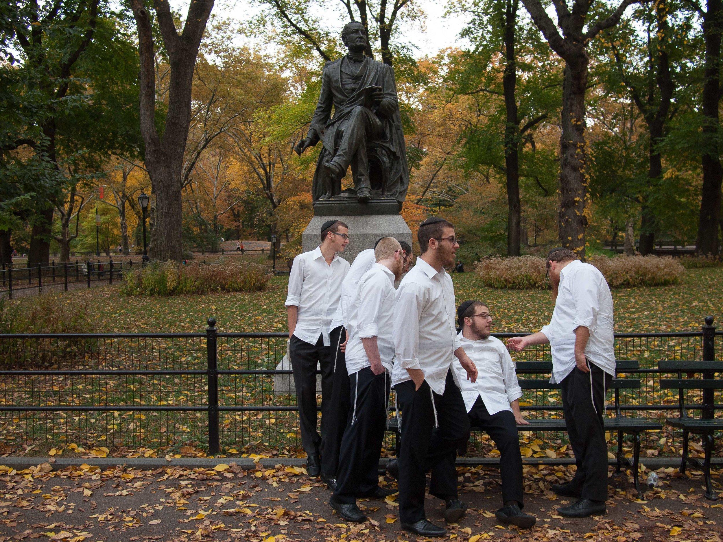 Fitz-Greene Halleck Statue, Poet's Walk, November 2013