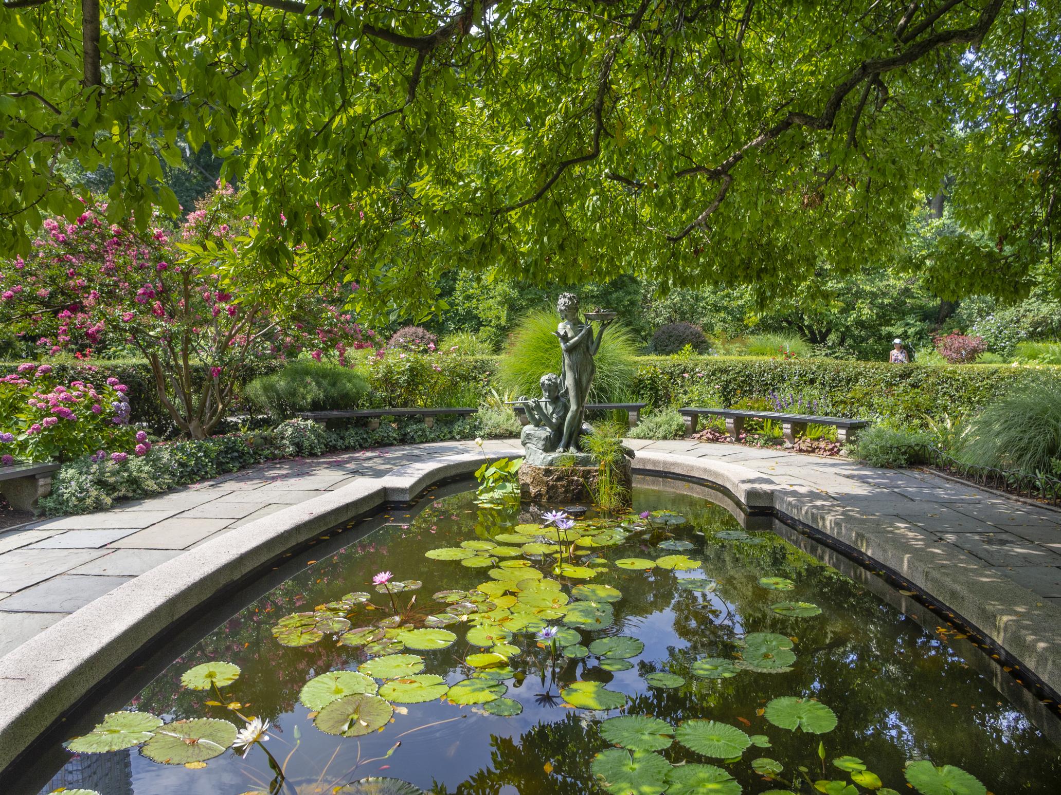 Burnett Fountain, Conservatory South Garden, July 2018