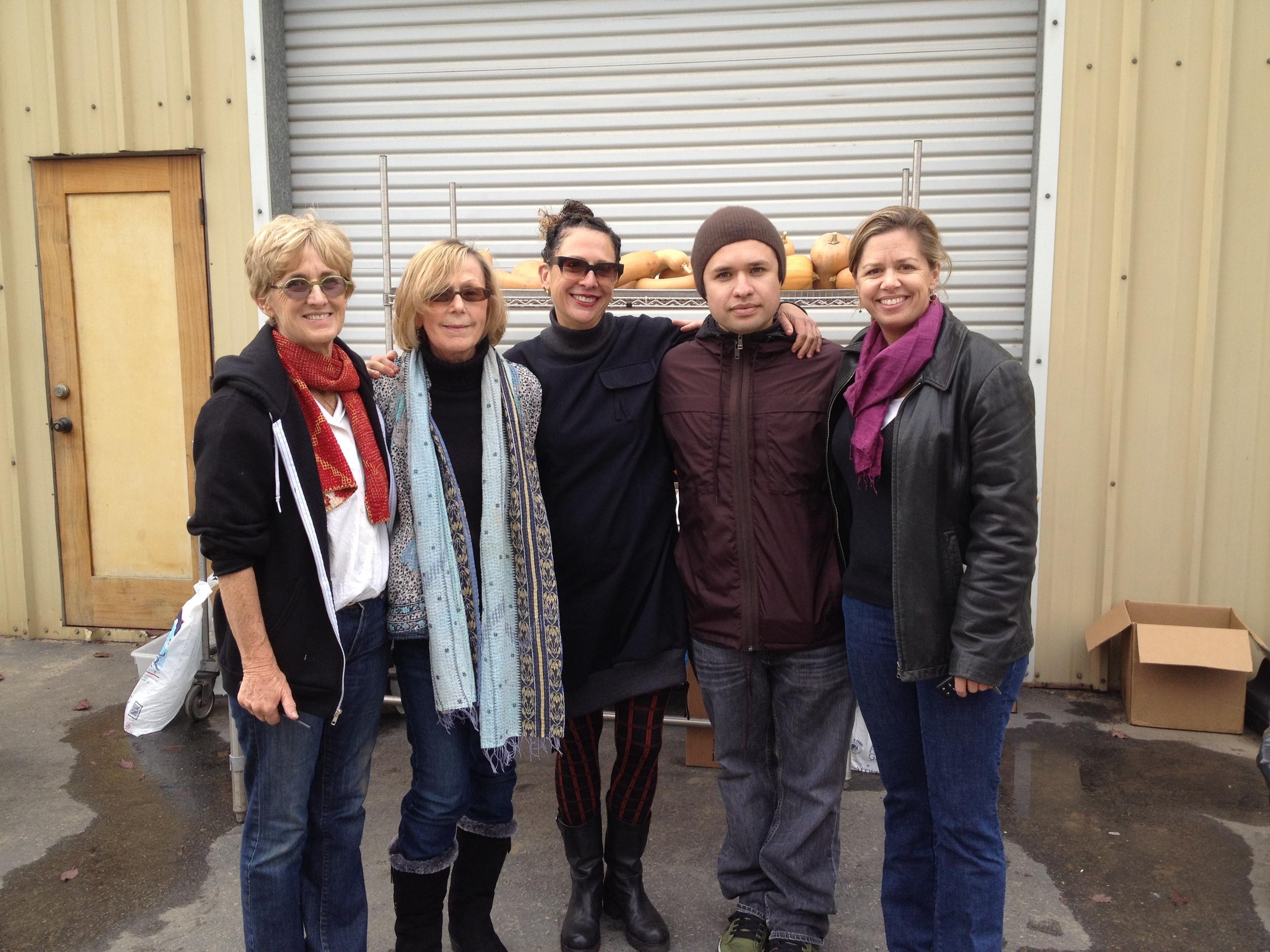 From L to R, Nina MacConnel, Milane Christiansen, Nancy Silverton, Matt Molina, and Jennifer de la Fuente