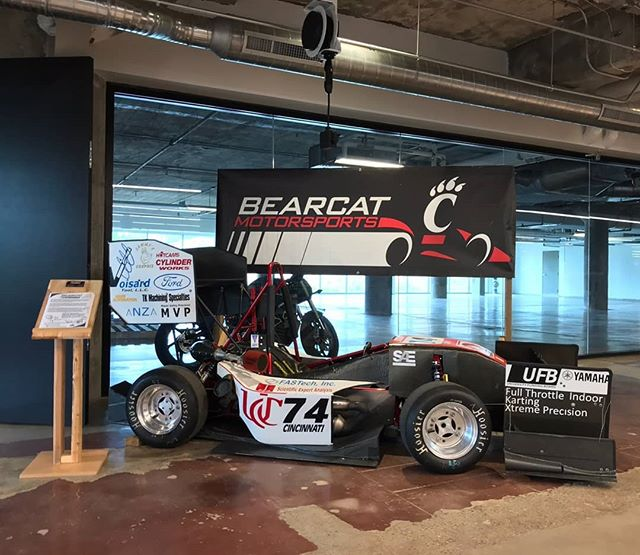 Come check out our 2016 car on display at the 1819 Innovation Hub! Special thanks to @1819innovation and @groundfloor_maker for letting us display the car in their space!!
