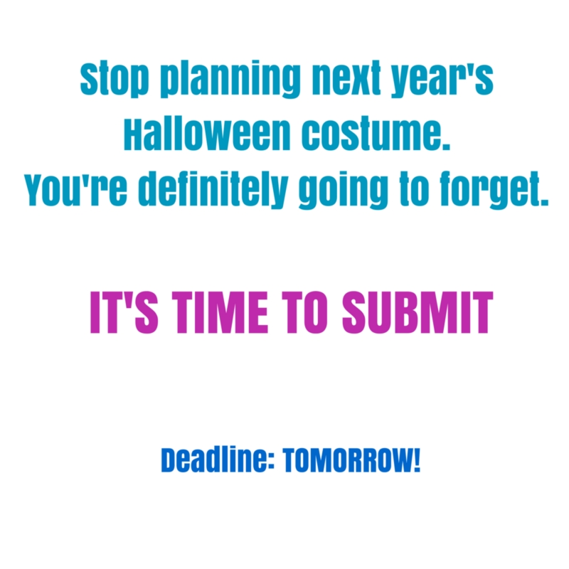 You must submit by 9 pm tomorrow to be considered for November's EWS!    http://www.lamprophonic.com/emerging-writers/