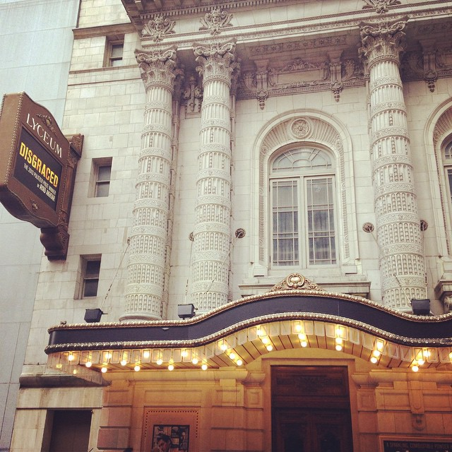 Love a Sunday afternoon on Broadway, especially to see work by Pulitzer Prize-winning, Columbia SOA grads…#disgraced