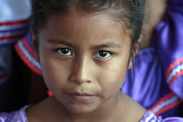 A young girl in Santa Rita, a rural indigenous community inBolivia. (   United Nations Photo   /Evan Schneider)