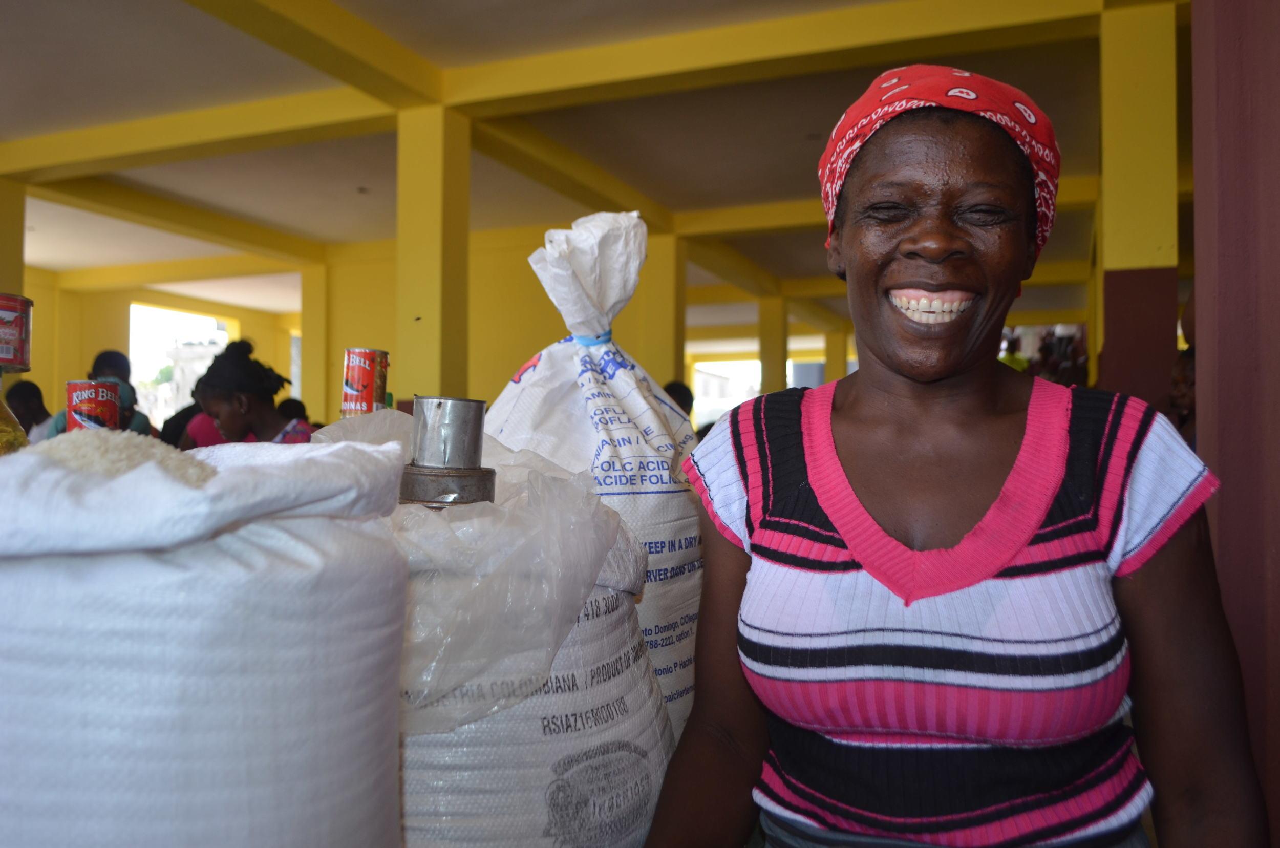 Nadilia Charles at the new market