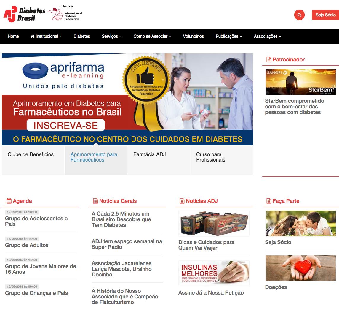 The new  ADJ homepage .