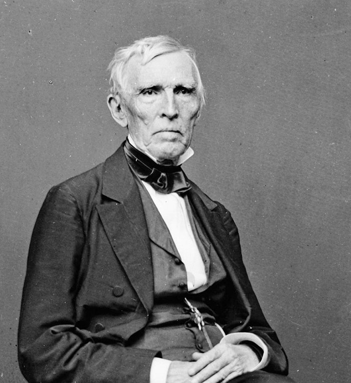 """John J. Crittenden (1787-1863) was the 17th governor of Kentucky and served twice as U.S. Attorney General. He represented the state in the U.S. Congress and strongly supported an """"Appeal to the People of the Nation"""" to contribute to the relief effort following the Great Potato Famine in Ireland.  Library of Congress, Mathew Brady"""