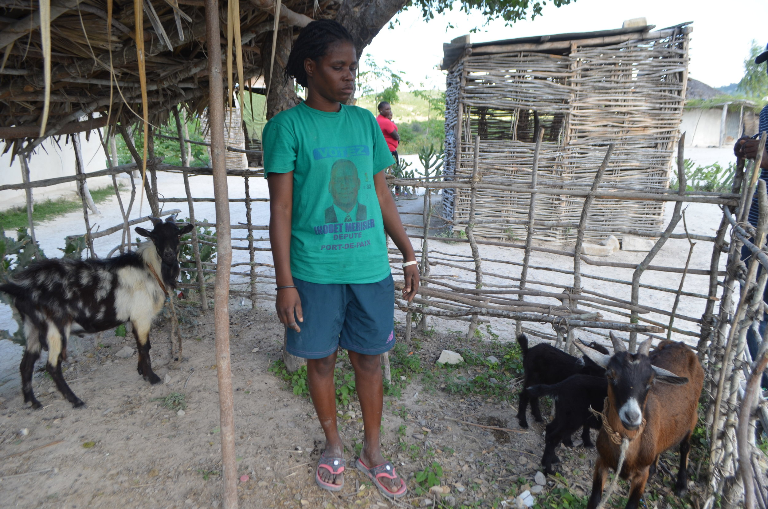 Rosita Cherry says her livestock help her pay tuition for her children.