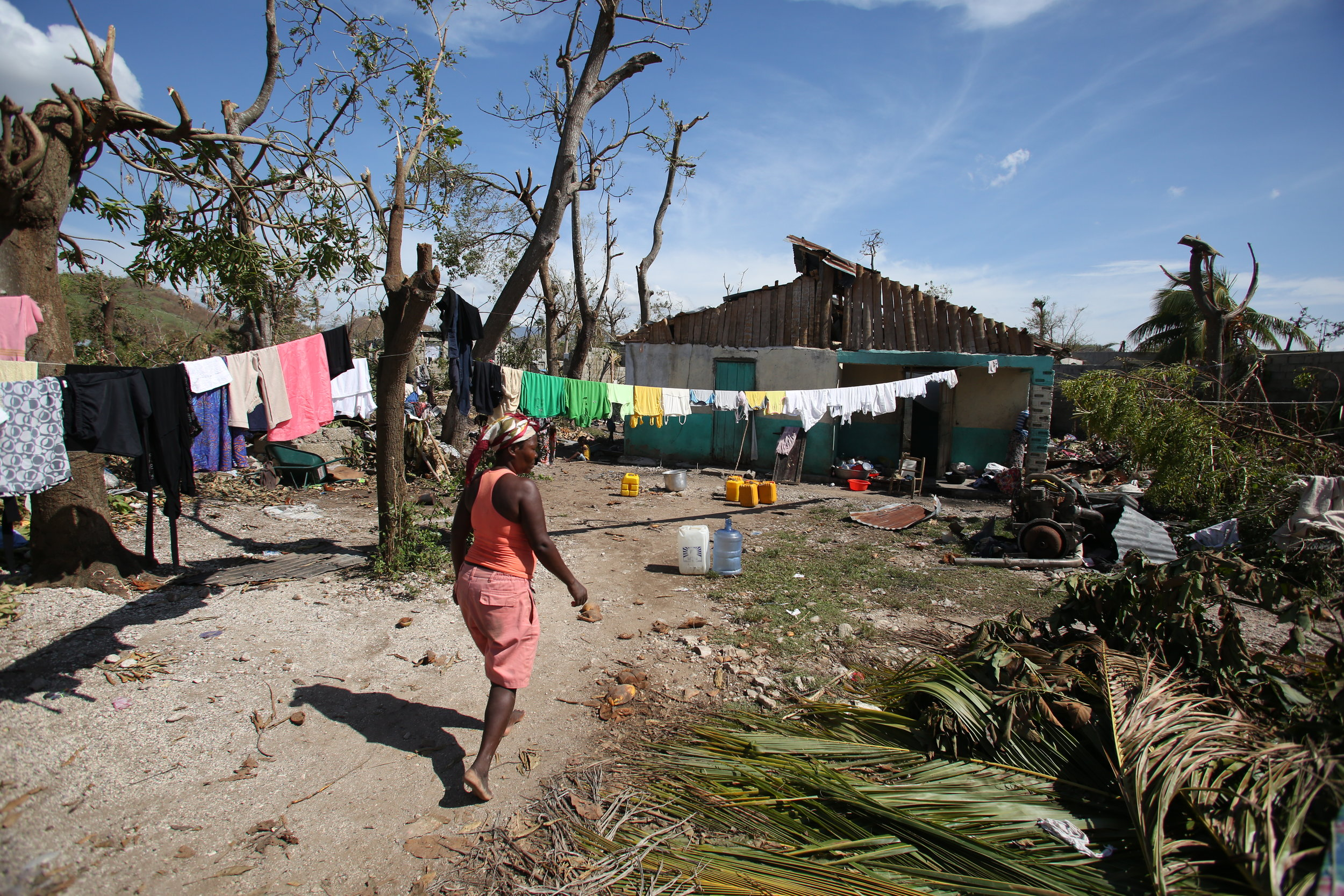 Many communities are still drying out after Hurricane Matthew brought high winds, extensive flooding and as much as 40 inches of rain.(Jeanty Junior Augustin)
