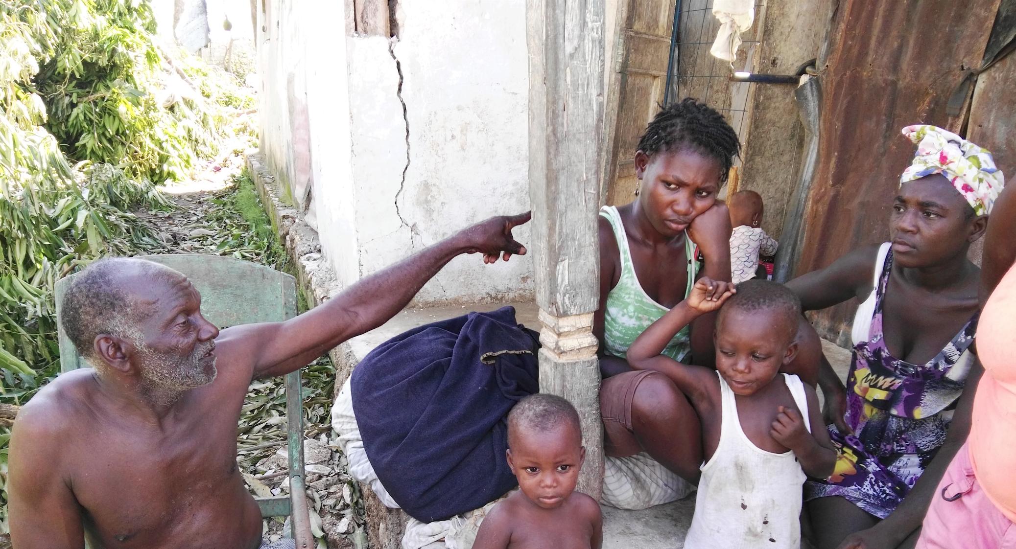 Joseph St. Fort and his neighbors in Camp Perrin, Haiti.(Jeanty Junior Augustin)