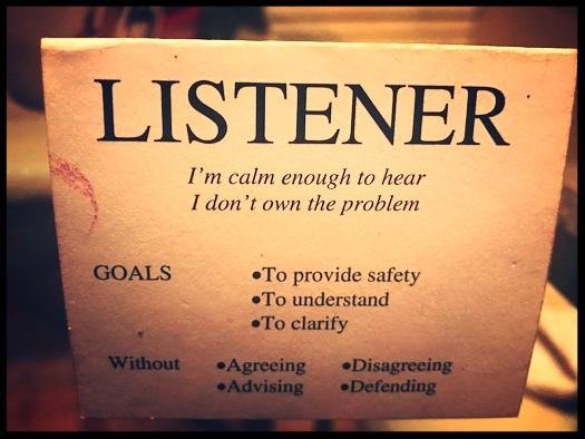 My classmate shared this listening card with me. #Goals