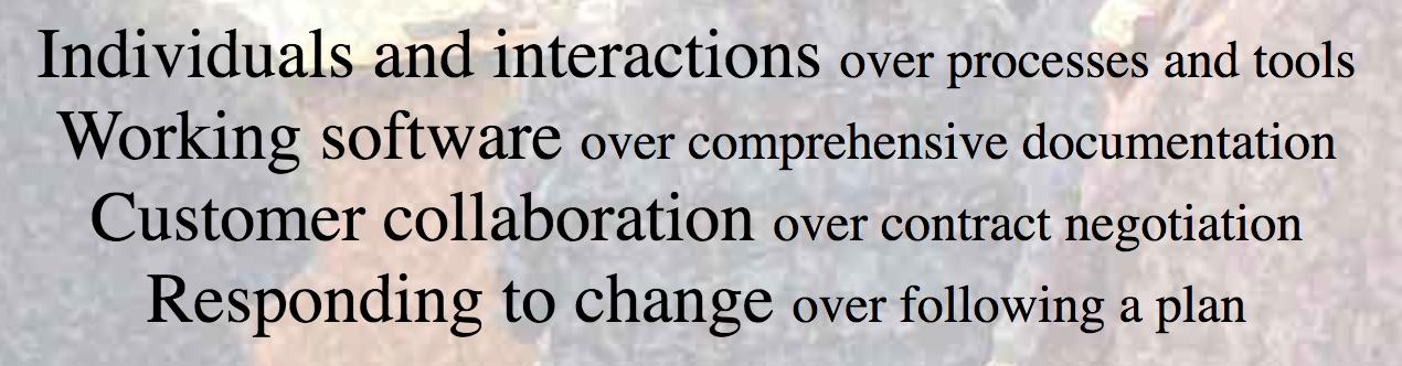 """Fig. 2 – """"Manifesto for Agile Software Development"""" core values by Agile Manifesto"""