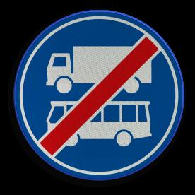 F20 - Einde rijbaan of -strook bus en vrachtverkeer