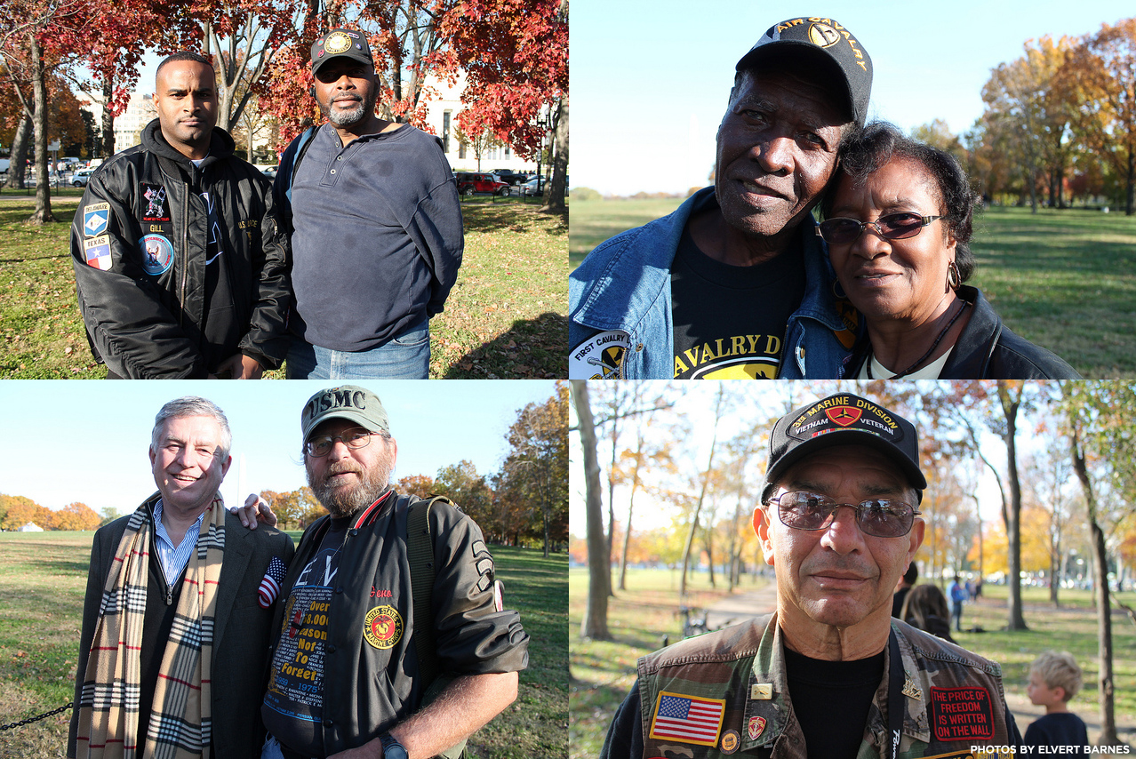 Vietnam Veterans, Washington DC, 2013. Photos by Elvert Barnes.