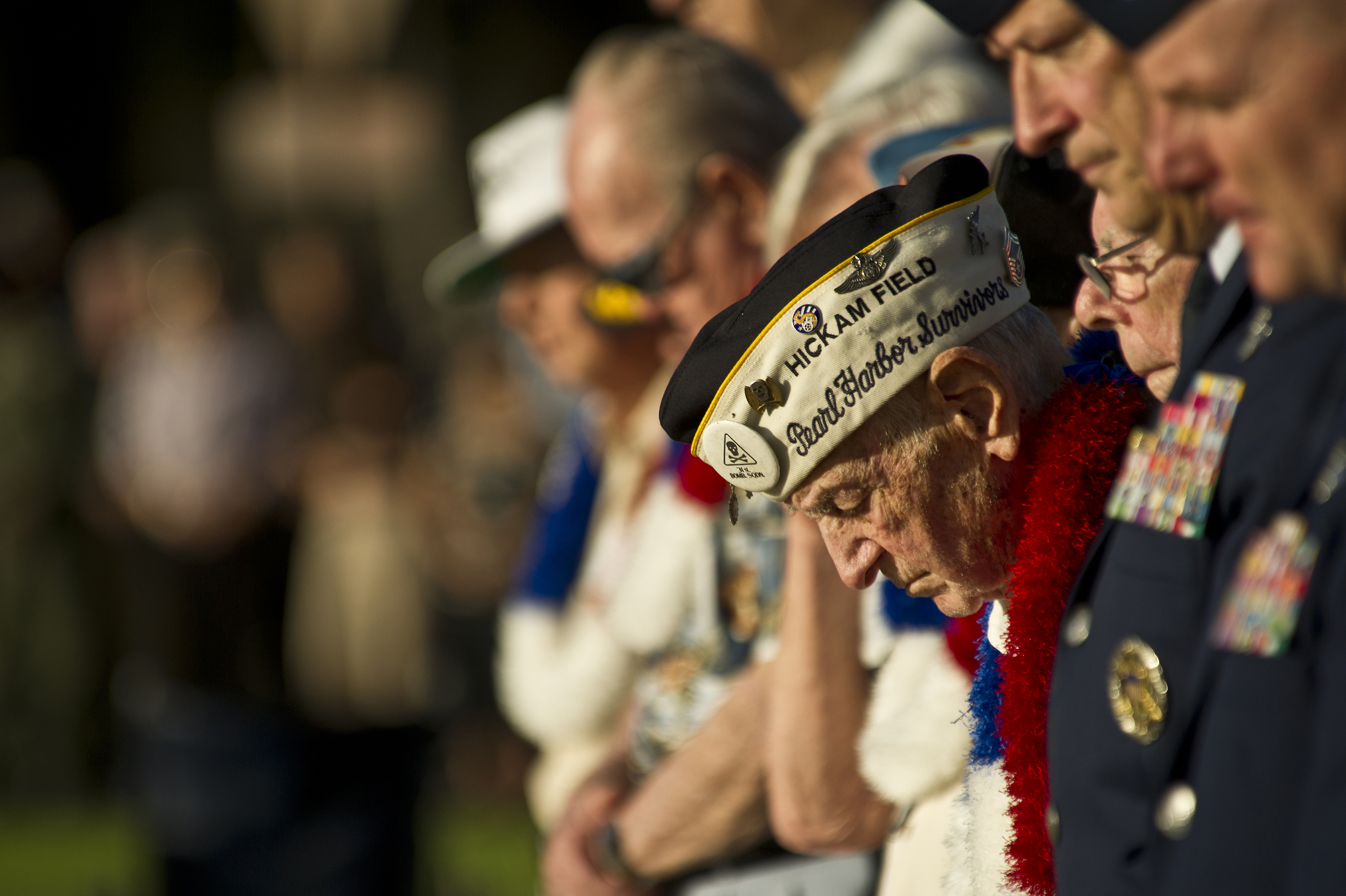 Veterans, recognized at a ceremony at Pearl Harbor on the 70th anniversary of the Dec. 7, 1941 attacks there.  Source