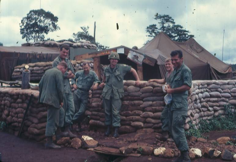 Soldiers from Mallin's unit during some downtime.