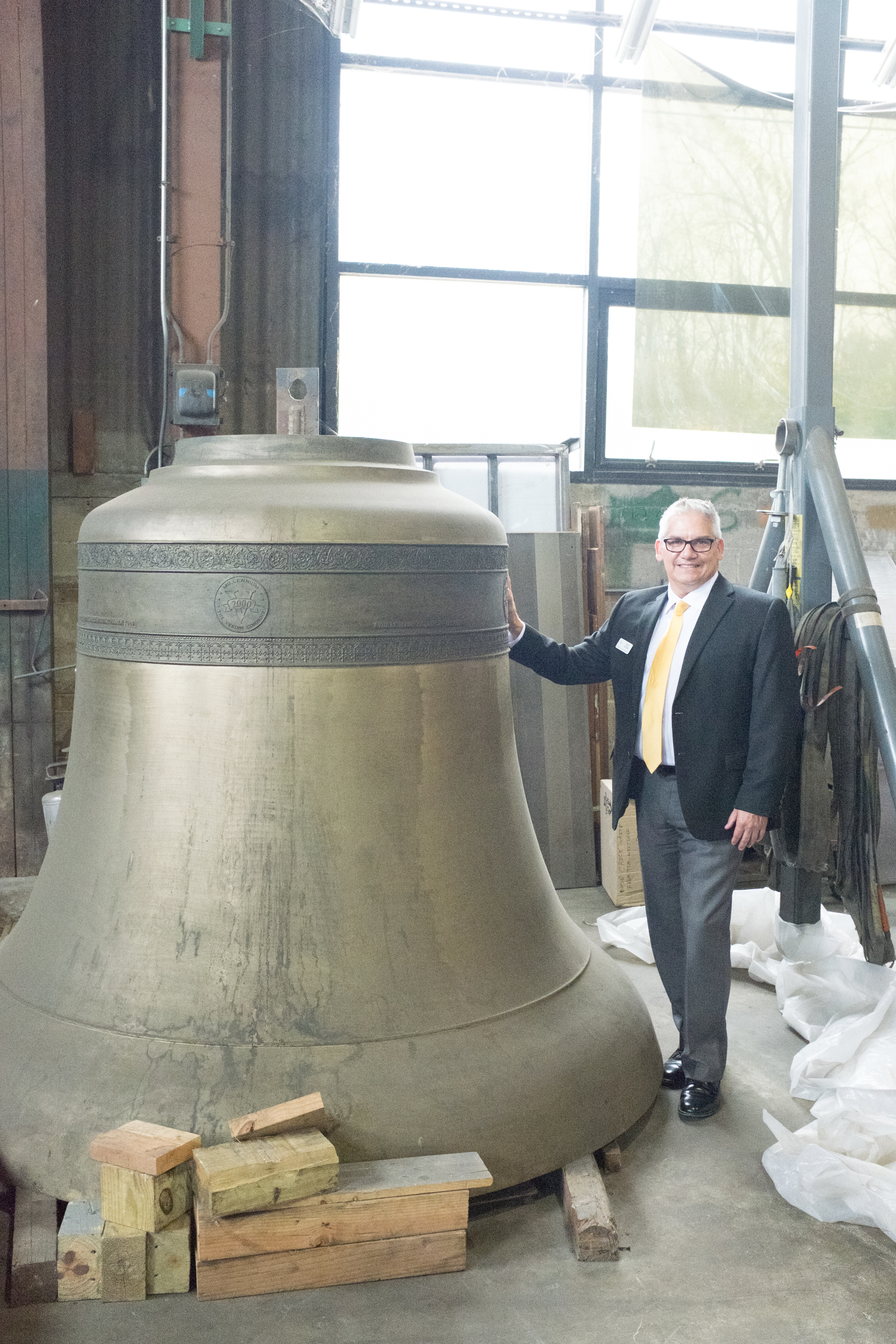 Lou and a Very Large Bell