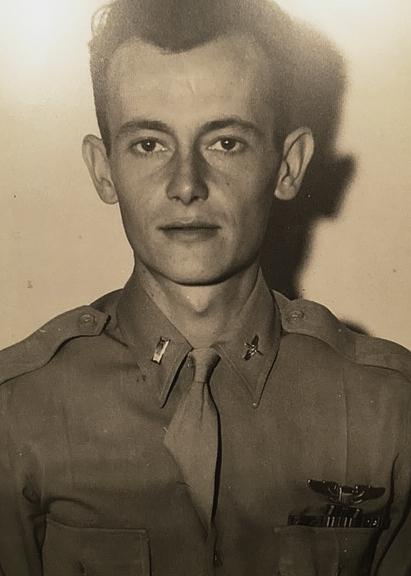 Adams in uniform