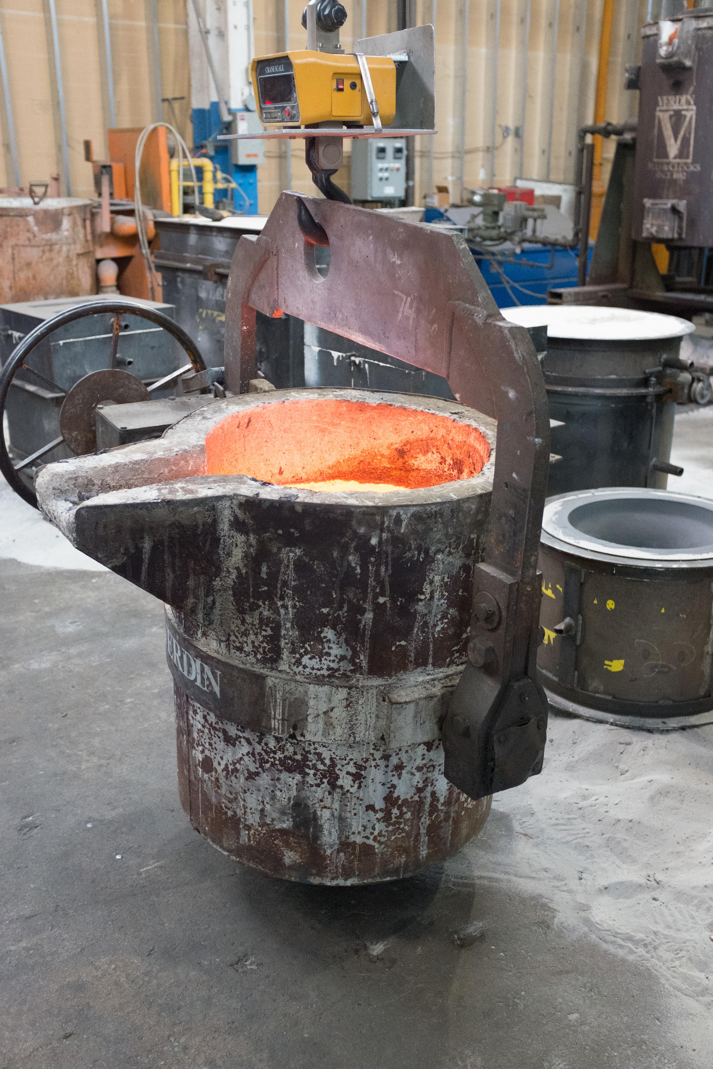 Bronze, ready to pour