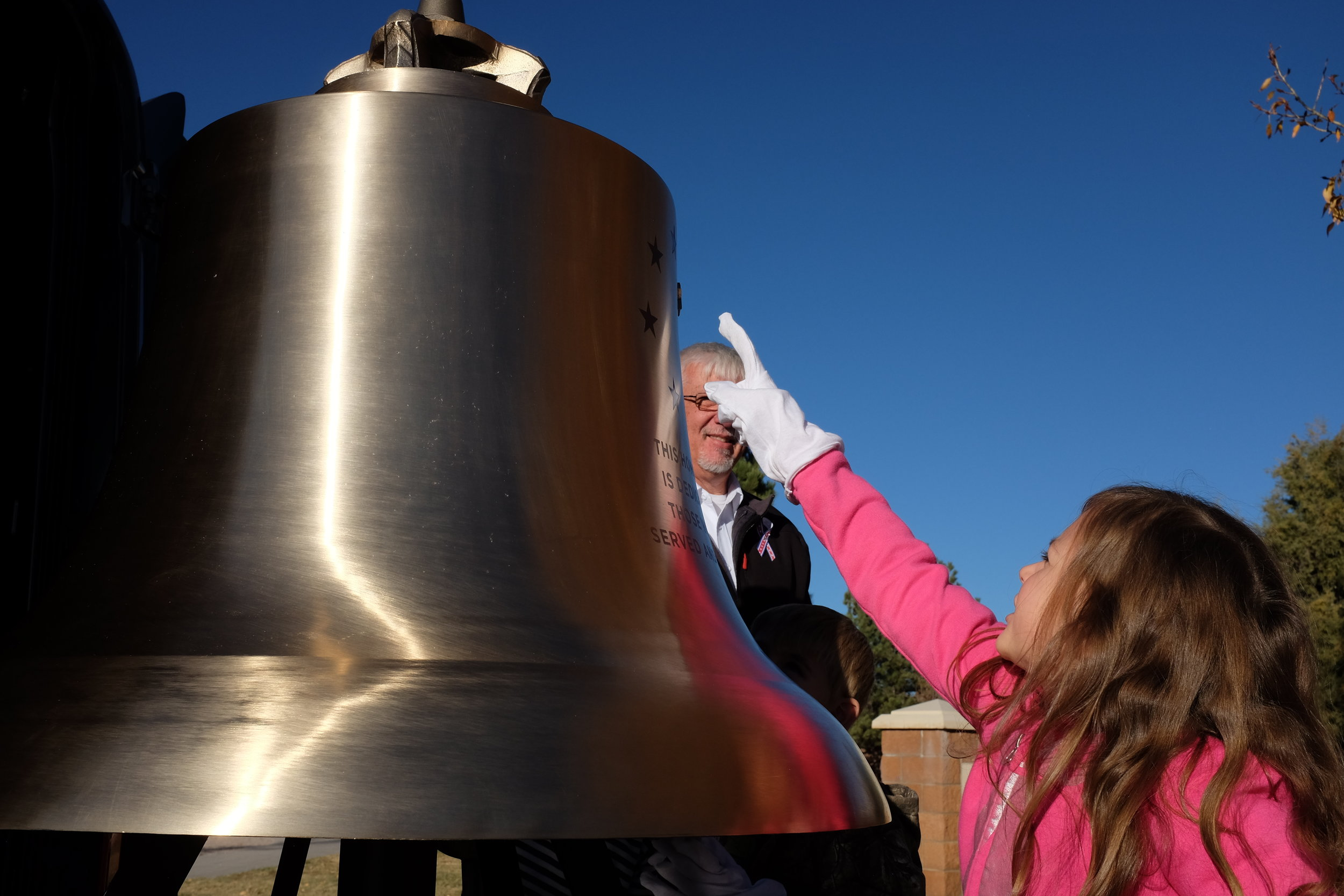 We had young and old admirers checking out the Honor Bell last month when we took it out to Kiowa High School for a presentation. We are happy to visit with kids around the Front Range and talk about the importance of military service and our veterans.