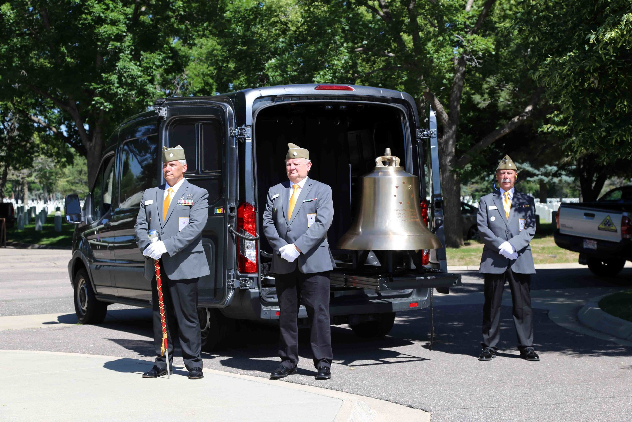 The Bell Guard standing ready to render honors. Photo courtesy of Erick Stowe.