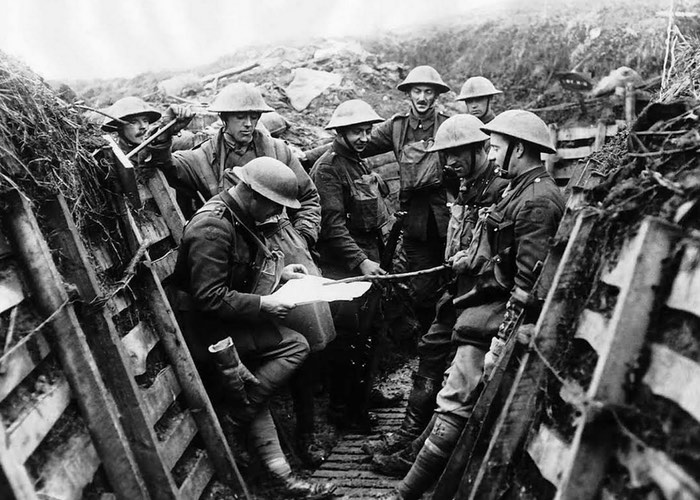 In the trenches, World War I