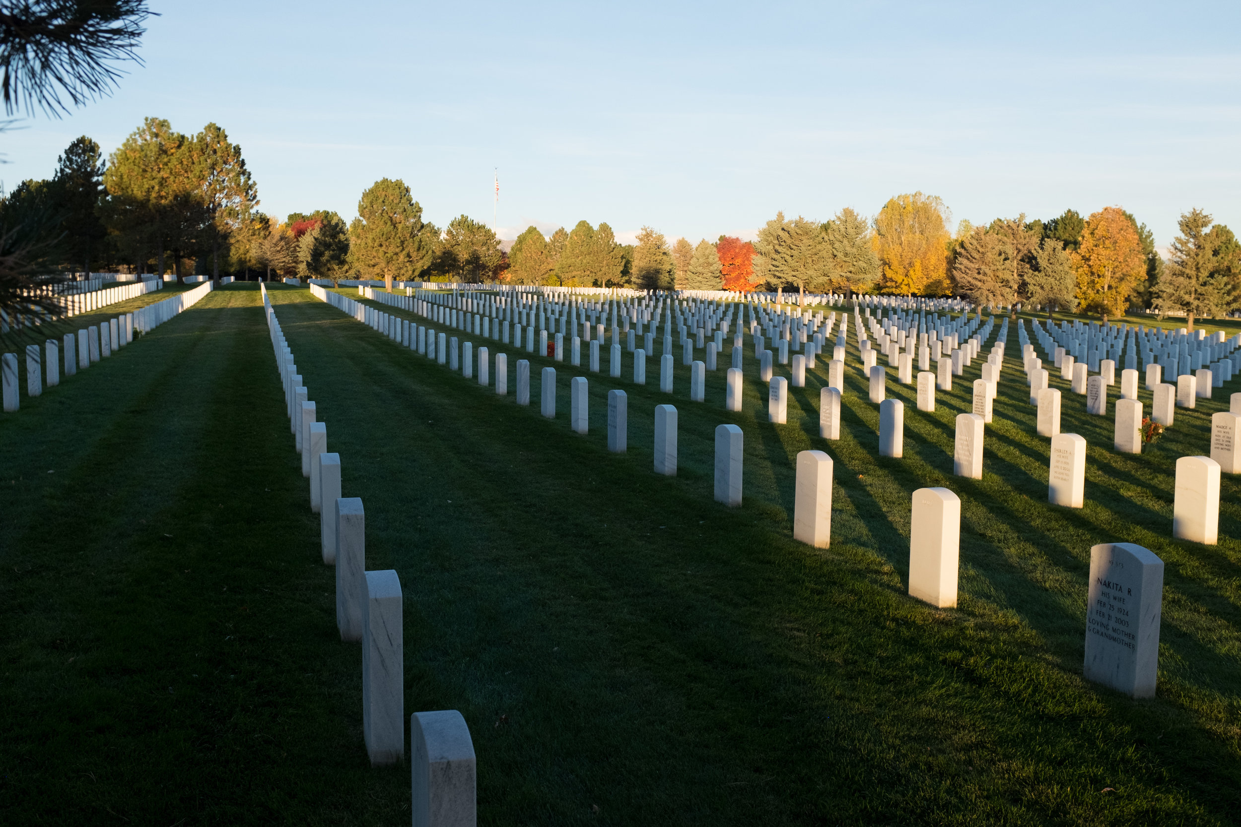 Sunrise at Fort Logan National Cemetery, Colorado