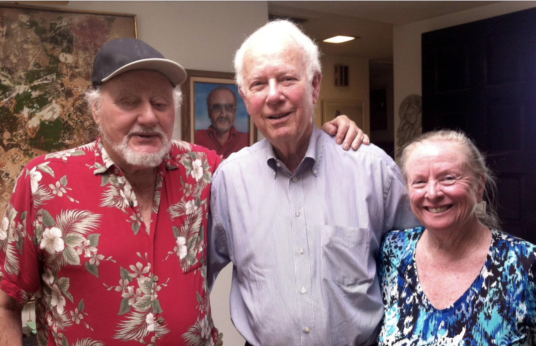 From left to right: Emanuel Wolf, Richard Buxbaum and Patricia Recendez at Emanuel and Patricia's home in Carlsbad, California.