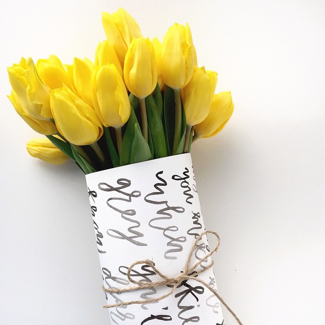 Marabou Design Brush Lettering Floral Wrap 2015.jpg