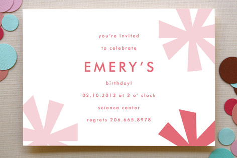 Sparkle Fete Birthday Party Invitations