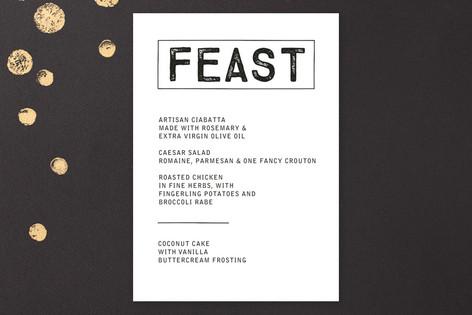 Feast Menu Card