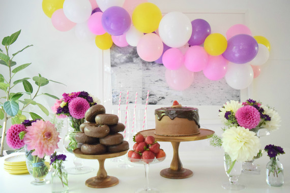 Life is a series of celebrations and if you, like me, enjoy the pomp and circumstance of party decorating, then this simple project is for you. All you need is a great color theme and about an hour to create this balloon garland—the fanciful cluster is the perfect party backdrop and livens up any area in need of a bright dose of color. View our complete step-by-step instructions on  Julep  to create your own today!  HERE .
