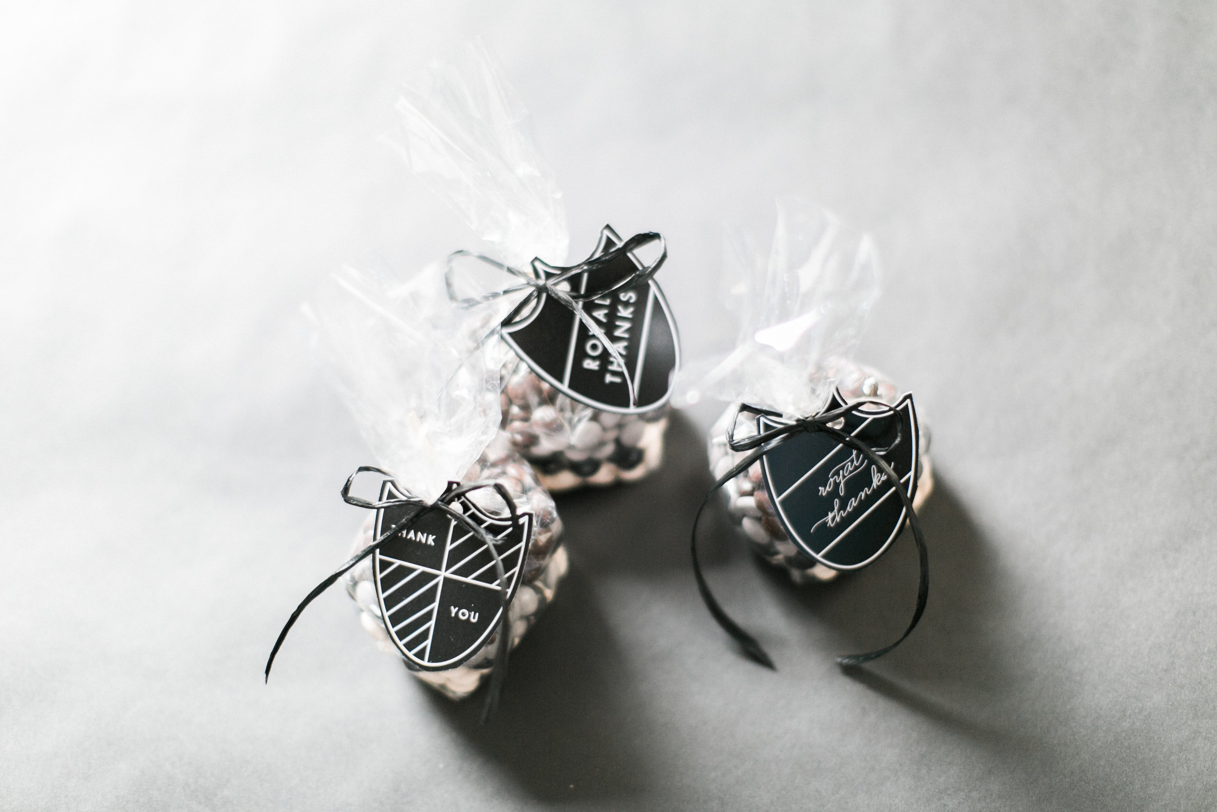 WE DESIGNED THESE FAVOR TAGS TO THANK GUEST FOR ATTENDING THE ROYAL AFFAIR. IT'S ALL IN THE DETAILS!  THEY SAY, ONE IS THE LONELIEST NUMBER THAT YOU'LL EVER DO...