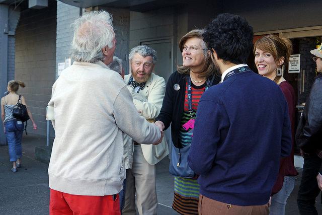 SIFF 2015 | Love Among the Ruins | June 4, 2015. Richard Meyer, Susan Harmon, Massimo Alì Mohammad and Elisa Leonini. Photo Credit: Kalani Akuna