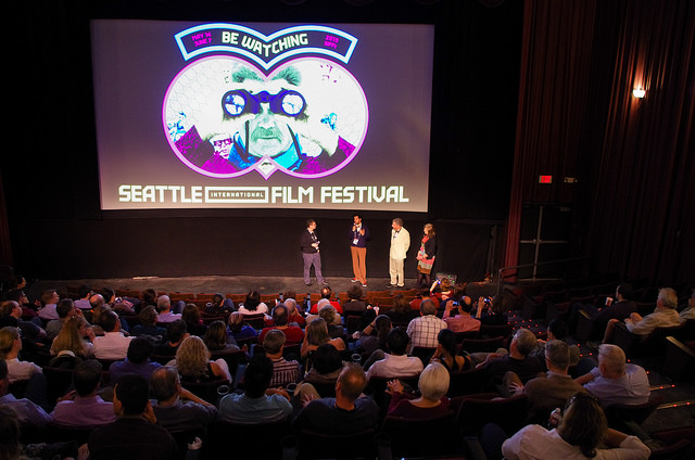 SIFF 2015 | Love Among the Ruins | June 4, 2015. Q&A with Beth Barrett, Director of Programming, SIFF, Massimo Alì Mohammad, Richard Meyer and Susan Harmon. Photo Credit: Octavian Scorteanu