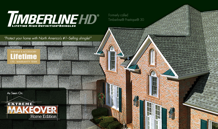 """GAF Timberline HD - Lifetime Shingles    """"Value And Performance In A Genuine  Wood-Shake Look  """""""