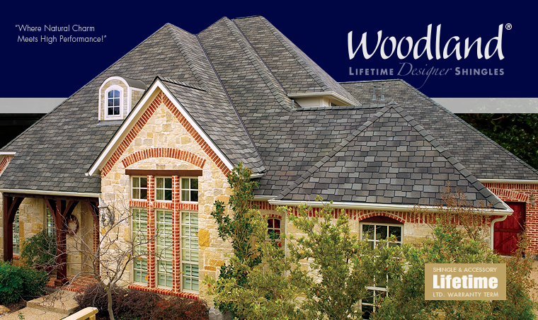 GAF Woodland Lifetime Designer Shingles - The stylish look of hand-cut European shingles—at an incredibly affordable price...