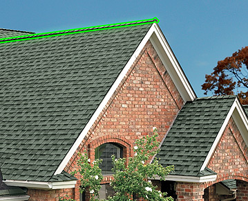 "GAF Hip & Ridge Cap Shingles    ""The Perfect Finishing Touch For Your New Roof Should Be A Distinctive Ridge Cap Shingle"""