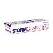 Storm Guard  Film surfaced leak barrier, suitable for application under shingle and metal roofs.