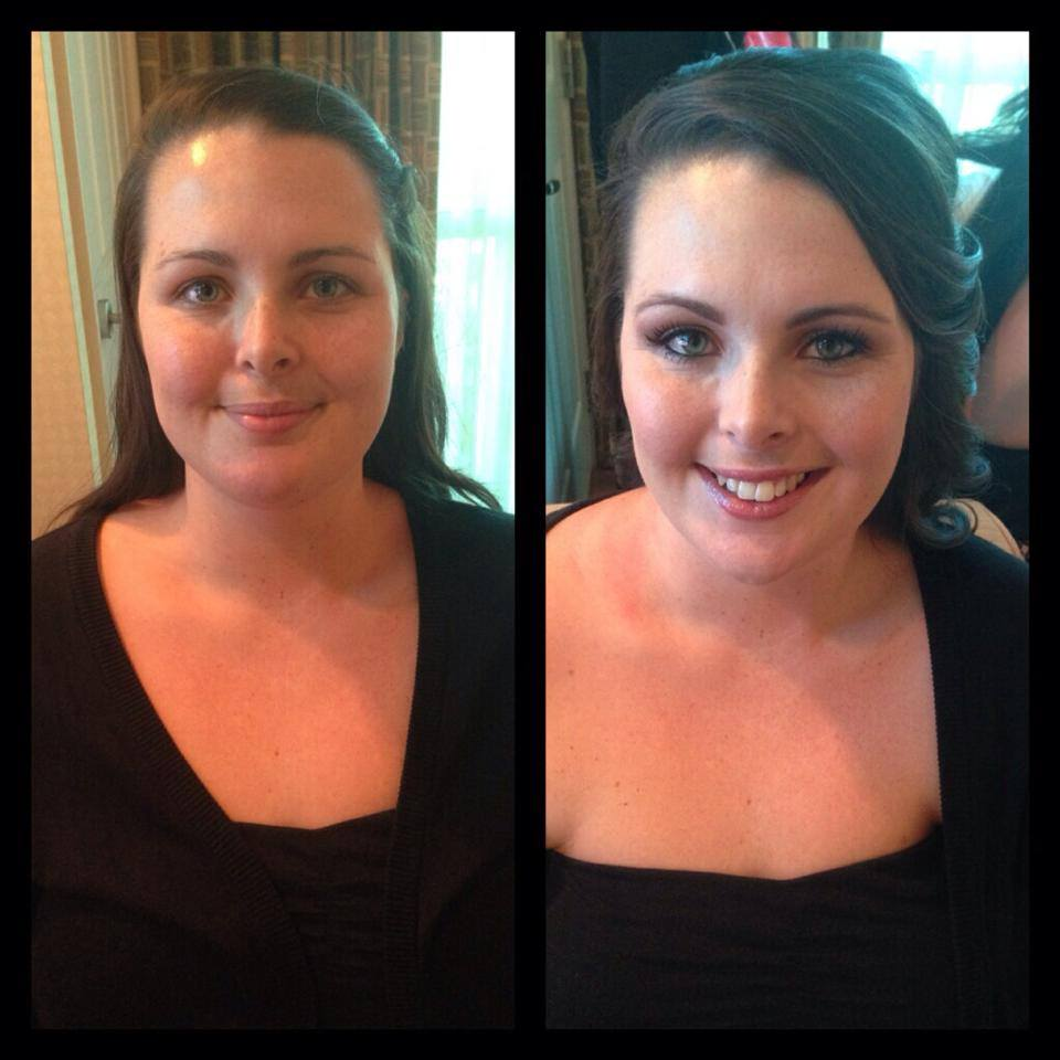 wedding hairstyle and makeup