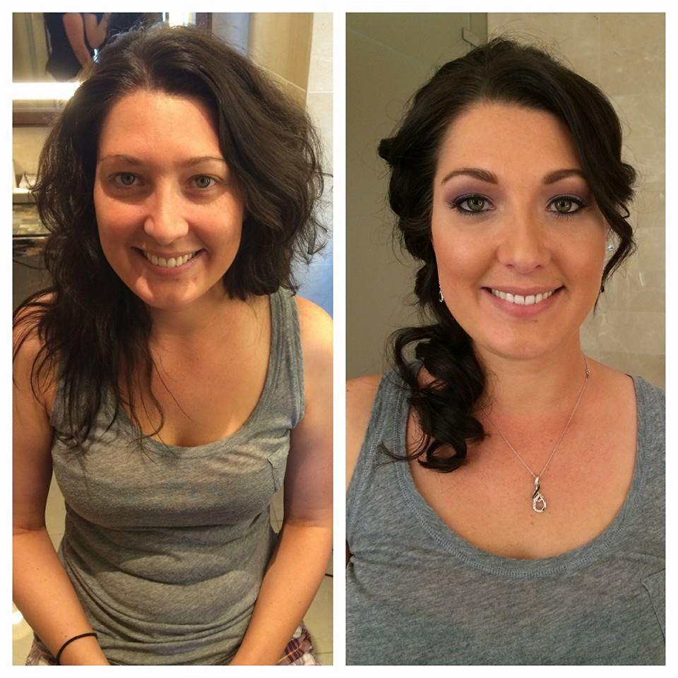 dark hair wedding hair and makeup