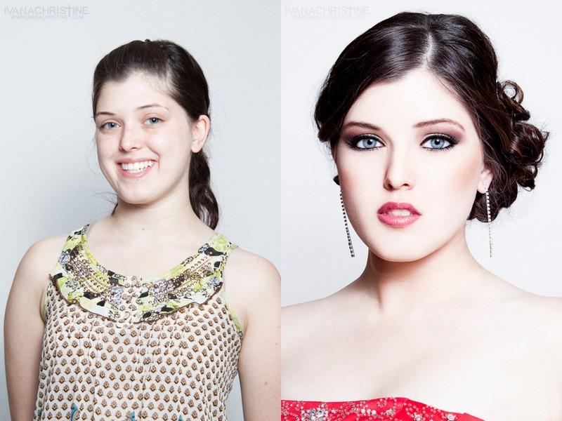 Bridal Side bun and medium makeup